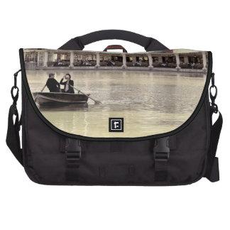 Vintage Antiqued Rowboat Photo of Central Park Bag For Laptop