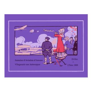 Vintage Antwerp Aviation Week (Dutch/French) Postcard