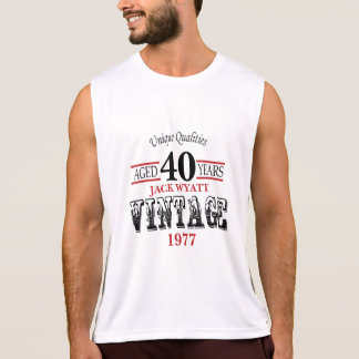 Vintage Any Age and Year Birthday Tank Top