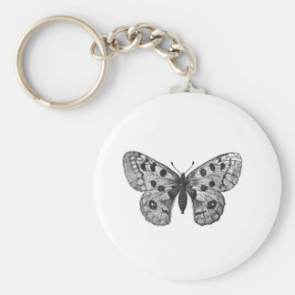 Vintage Apollo Mountain Butterfly Basic Round Button Keychain