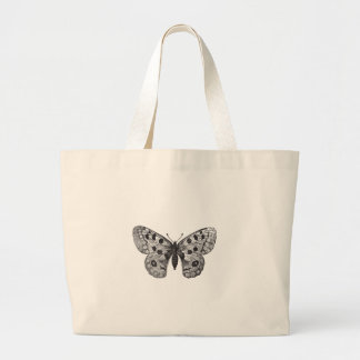 Vintage Apollo Mountain Butterfly Large Tote Bag