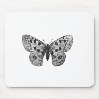 Vintage Apollo Mountain Butterfly Mouse Pad
