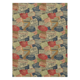 Vintage Apothecary Tablecloth