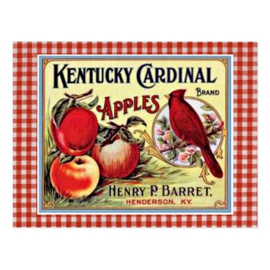 Vintage Apple Ad Postcard