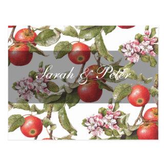 Vintage Apple Blossom Save-the-Date Postcard