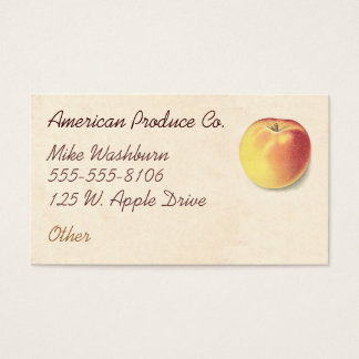 Vintage Apple Business Card