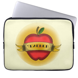 Vintage Apple Tattoo Teacher Electronics Bag