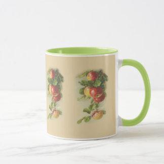 Vintage apples mug