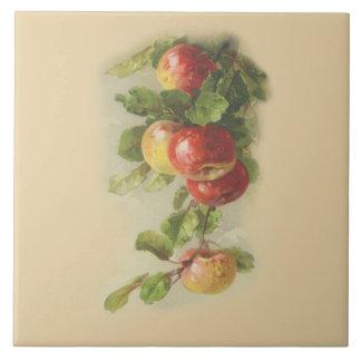 Vintage apples tile