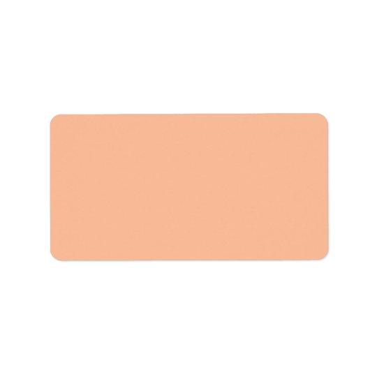 Vintage Apricot Peach Personalized Cream Colour Label