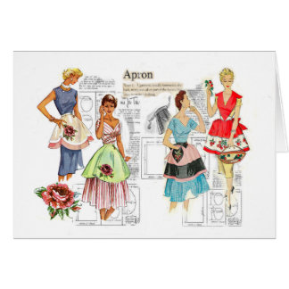 Vintage Apron Sewing Pattern Card