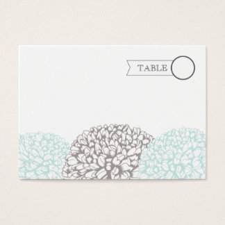Vintage Aqua Flowers Suite Table Name Place Cards