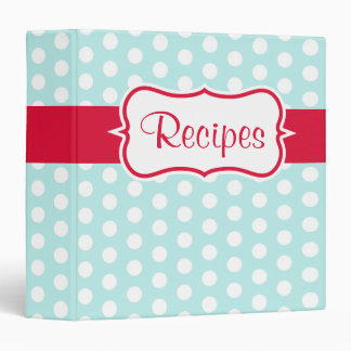 Vintage Aqua Recipe Organizer Kitchen Binder Gift