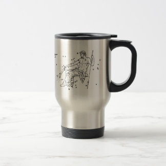 Vintage Aquarius Personalized Birthday Travel Mug