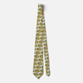 Vintage Aquatic Goldfish Koi Fish, Marine Sea Life Tie