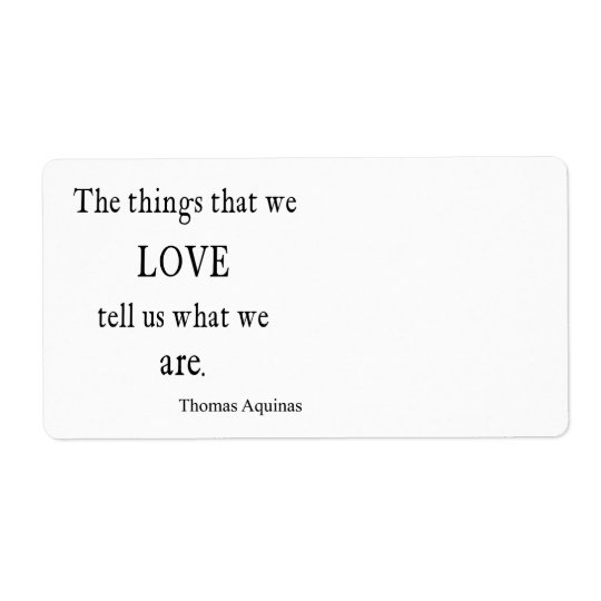 Vintage Aquinas  Love Inspirational Quote / Quotes