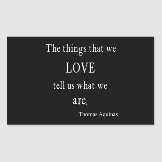 Vintage Aquinas Love Inspirational Quote / Quotes Sticker