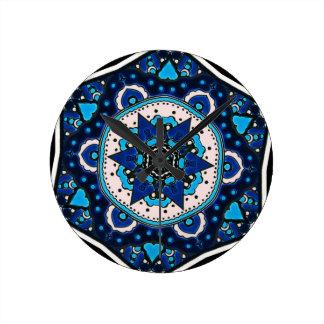 Vintage ARABIC tile Iznik, Turkey, 16th century Round Clock