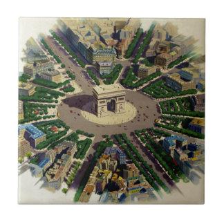Vintage Arc de Triomphe Paris Tile