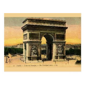 Vintage Arc De Triomphe Post Card