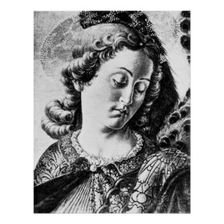 Vintage  - Archangel Raphael Poster