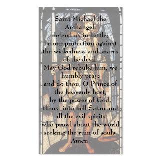 Vintage Archangel, Saint Michael by Burne Jones Business Card Template
