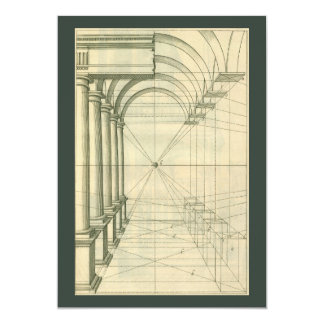 Vintage Architecture Arches Perspective Invitation