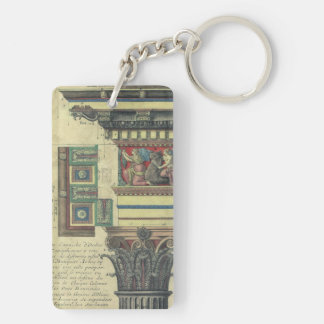 Vintage Architecture, Column with Cornice Moulding Keychain