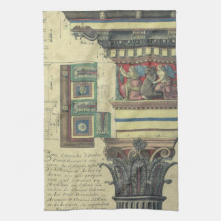 Vintage Architecture, Column with Cornice Moulding Kitchen Towels