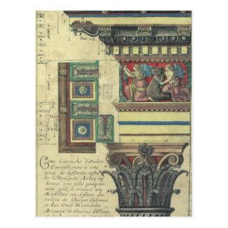 Vintage Architecture, Column with Cornice Moulding Postcard