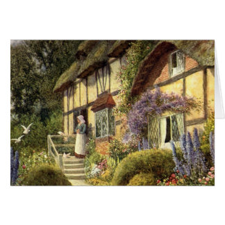Vintage Architecture, Country Cottage House Card