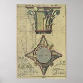 Vintage Architecture, Decorative Capital Crown Poster