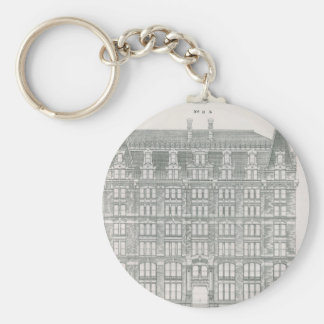 Vintage Architecture, Delaware & Hudson Canal Co. Keychain