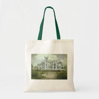 Vintage Architecture, French Chateau Floor Plans Canvas Bag