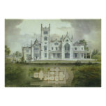 Vintage Architecture, French Chateau Floor Plans Posters