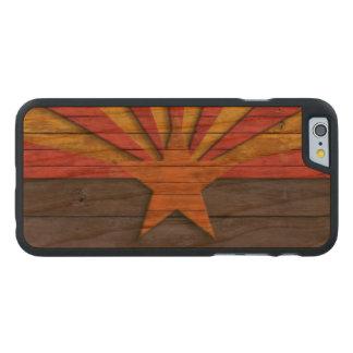Vintage Arizona Flag Distressed Carved® Cherry iPhone 6 Case