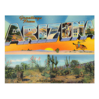 Vintage Arizona Postcard Collage