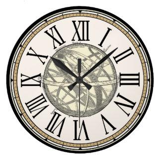 "Vintage ""Armillary Sphere"" Wall Clock"