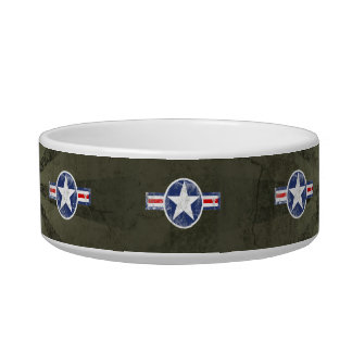 Vintage Army Air Corps Patriotic Star Bowl