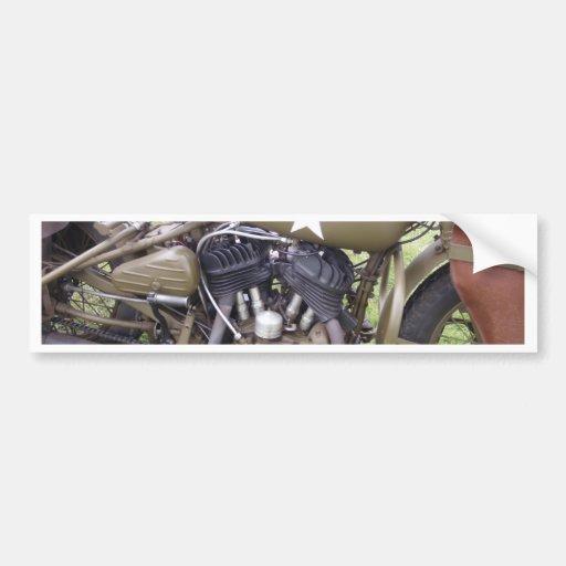 Vintage Army Motorcycle Bumper Stickers