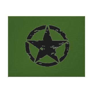 Vintage Army Star Photo Canvas Prints