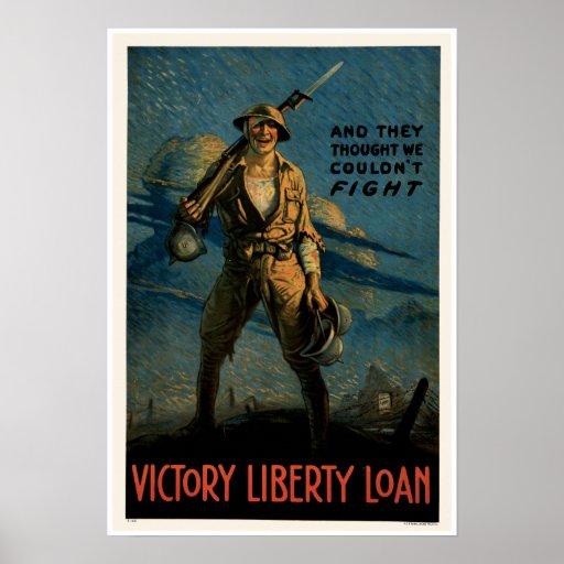 Vintage Army World War 1 Poster