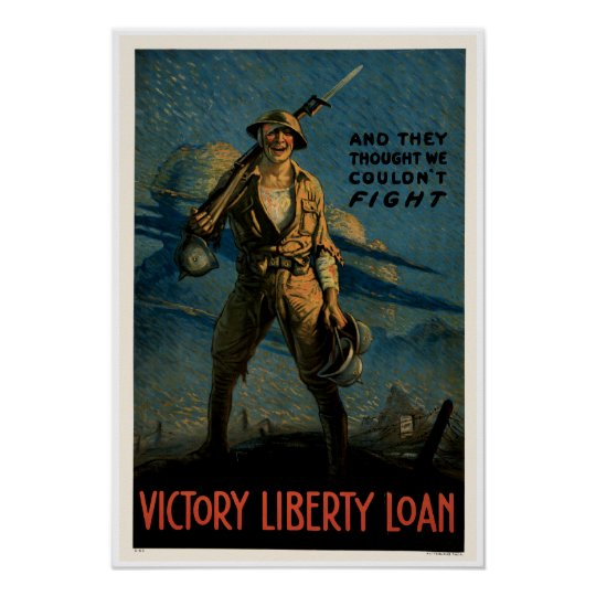 Vintage Army World War 1 Poster