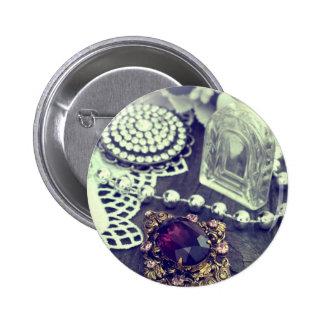 vintage arrangement 2 inch round button