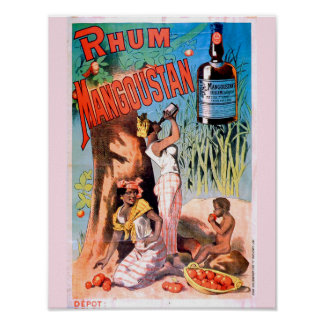 Vintage Art Advertisement Poster - Rum