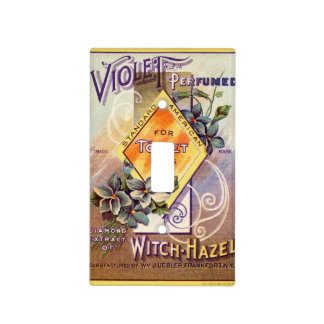 Vintage Art Advertising Violet Witch Hazel Light Switch Cover