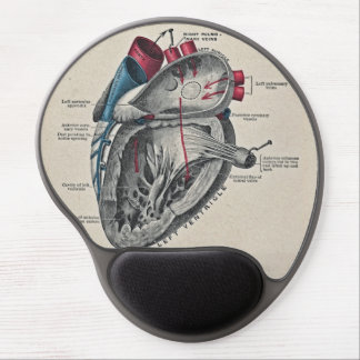 Vintage Art Anatomical Heart Diagram - science Gel Mouse Pad