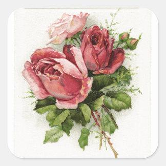 Vintage Art Antique Roses Stickers