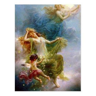 Vintage Art Celestial Angels Postcard