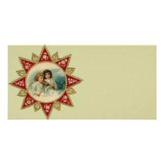 Vintage Art - Christmas Angels Customized Photo Card